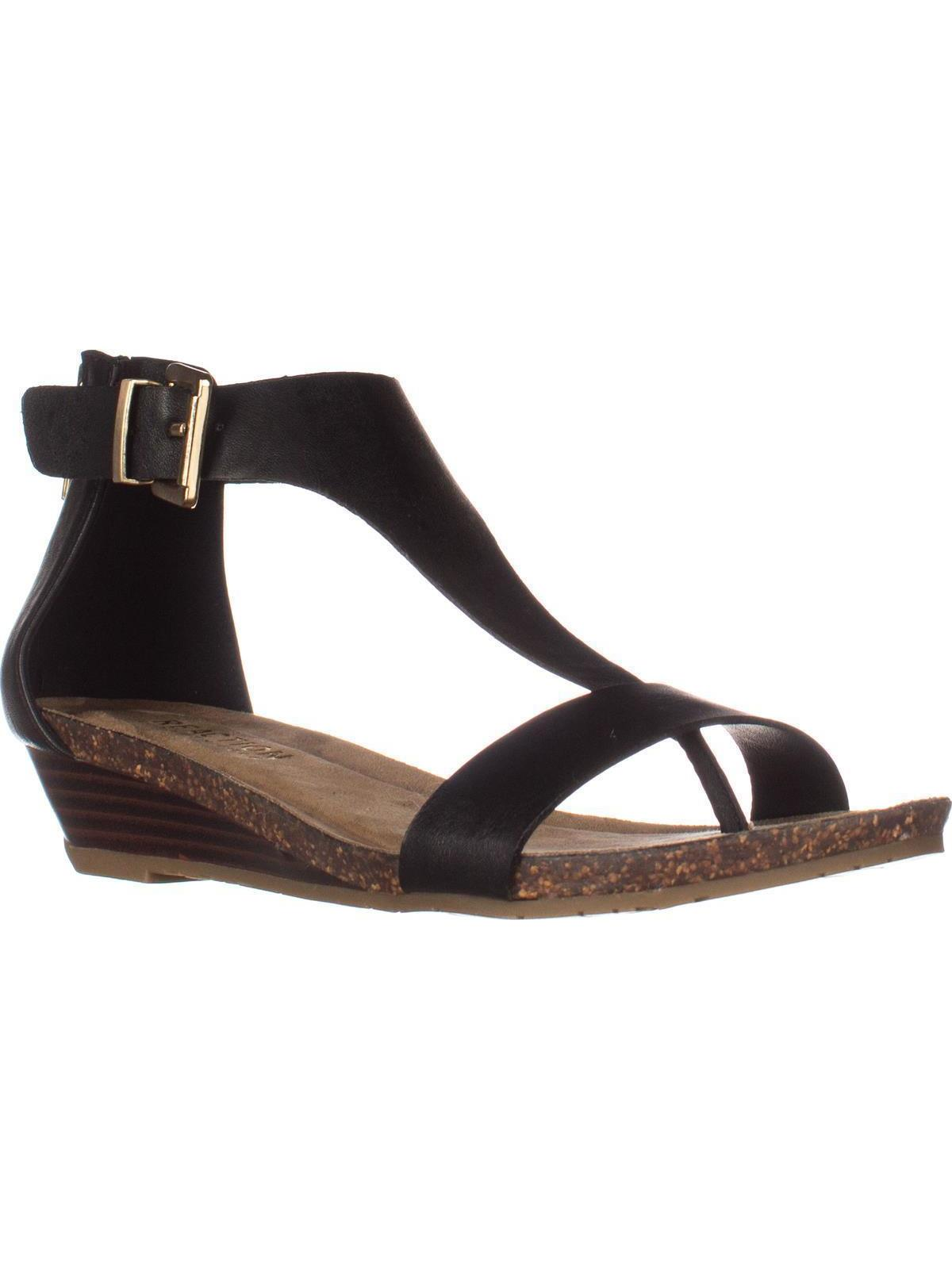 a2b2a2bdf30 Kenneth Cole REACTION Great Gal T-Strap Wedge Sandals