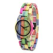 FAGINEY Bamboo Watch,Fashionable Elegant Bamboo Wooden Watch Couples Quartz Wristwatch, Quartz Watch