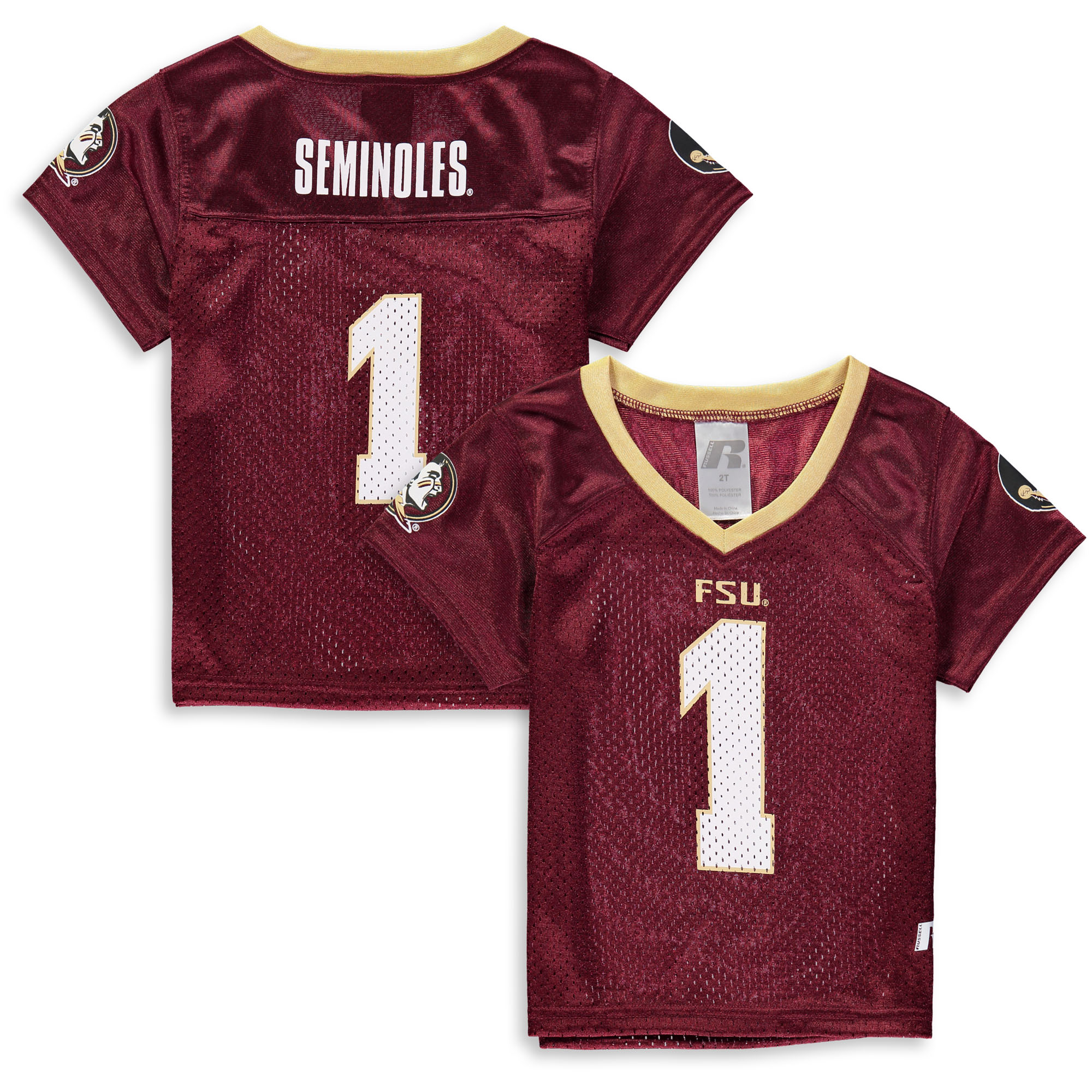 Toddler Russell Garnet Florida State Seminoles Replica Football Jersey