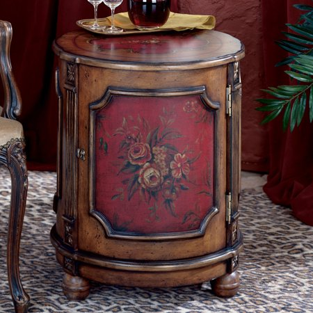 Butler Drum Table - Red (Hand Painted Drum Table)