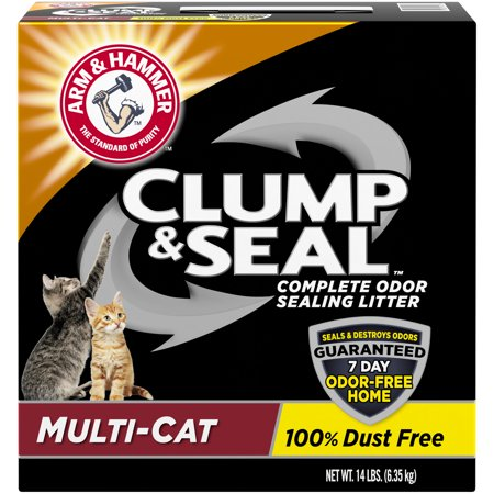 Arm & Hammer Clump & Seal Litter, Multi-Cat (Dust Free Clumping Cat Litter)