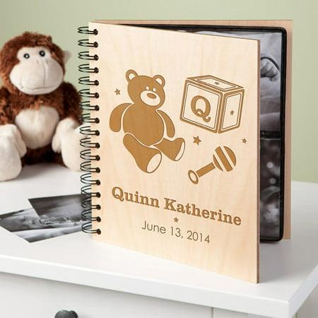 Personalized Baby Bear Wood Photo -