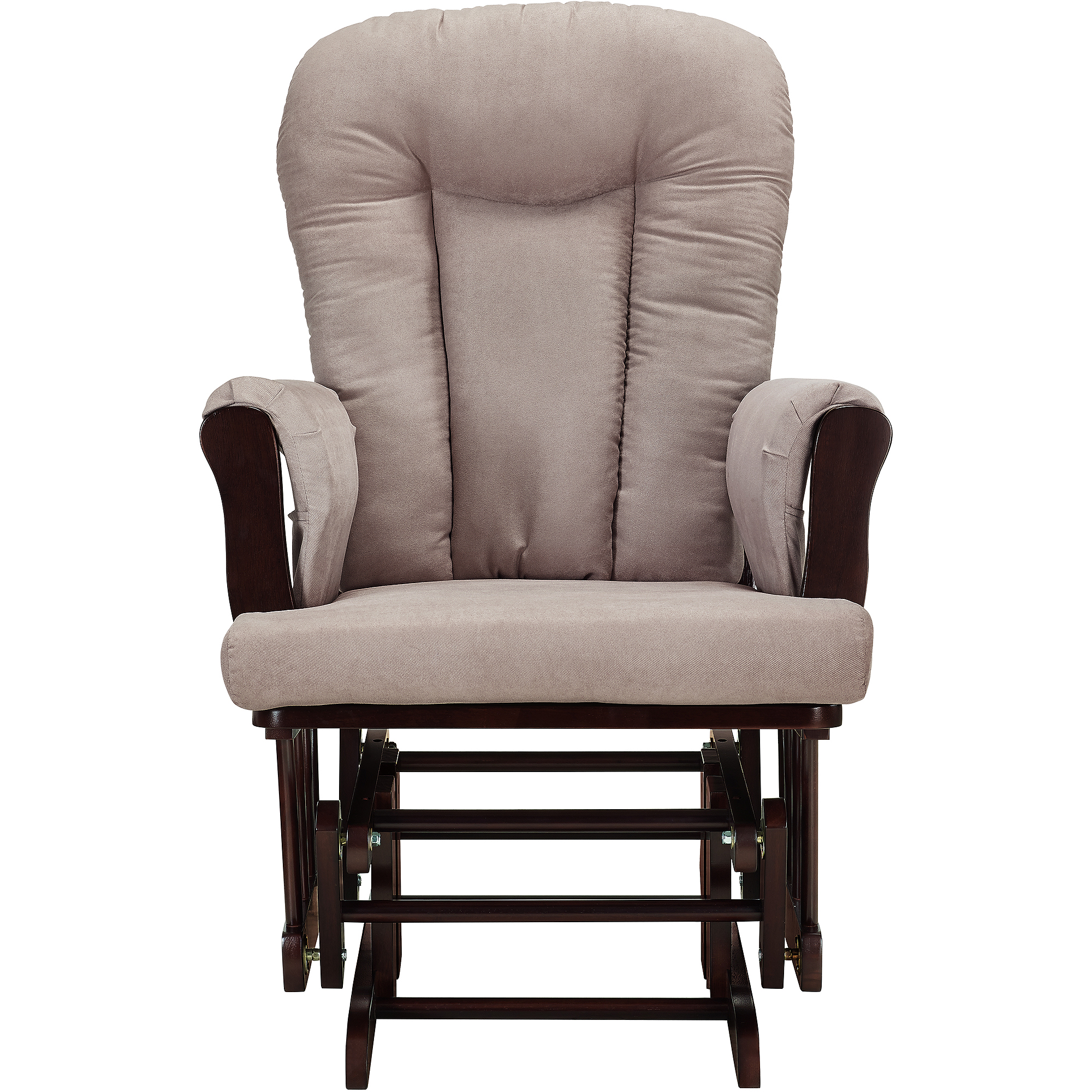 baby relax glider rocker and ottoman espresso with chocolate cushions walmartcom - Glider Rocker Chair