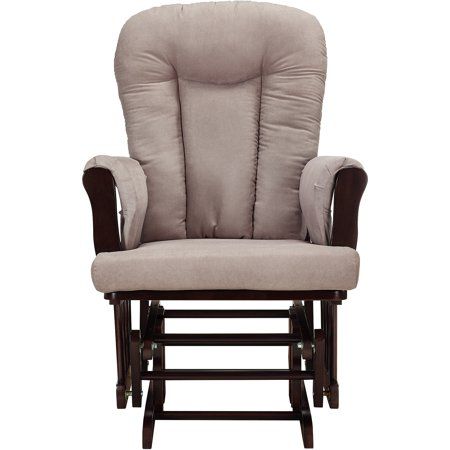 Baby Relax Glider Rocker And Ottoman Espresso With Gray