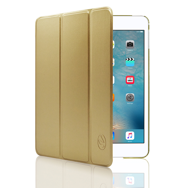 "IPAD Pro 12.9"" Luxury Slim Stand Polyurethane Cover Smart Case Black"