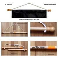 """36"""" Banner Pole with Hanging Rope"""