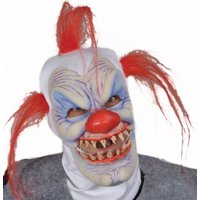 Zagone Syco The Clown Full Head Mask, Multicolors, One Size