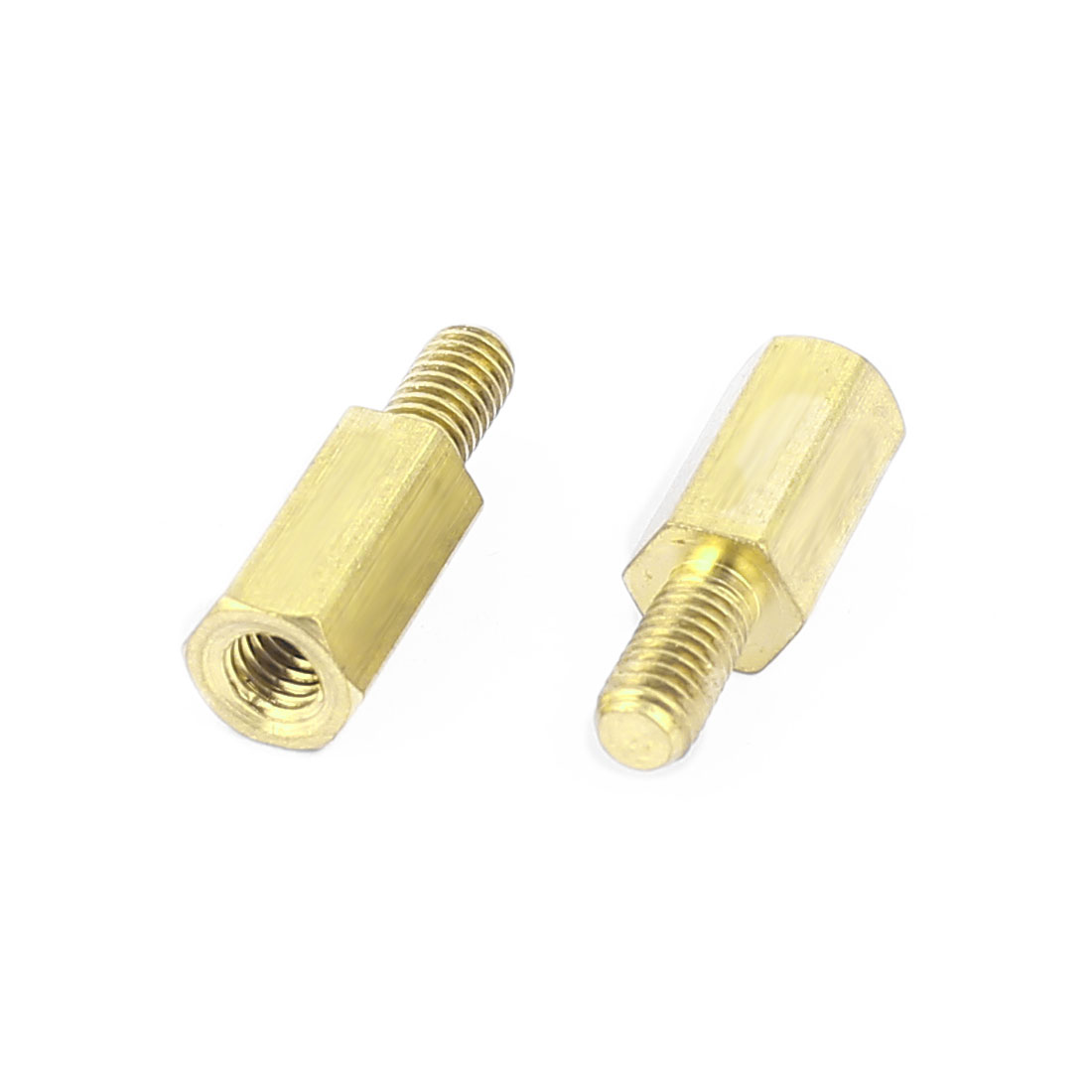 M3x9+6mm Female/Male Threaded Brass Hex Standoff Pillar Spacer Coupler Nut 35pcs - image 1 of 2