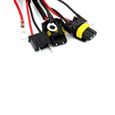 h7 xenon hid conversion kit relay wiring harness wire upgrade pack for car  - image 1