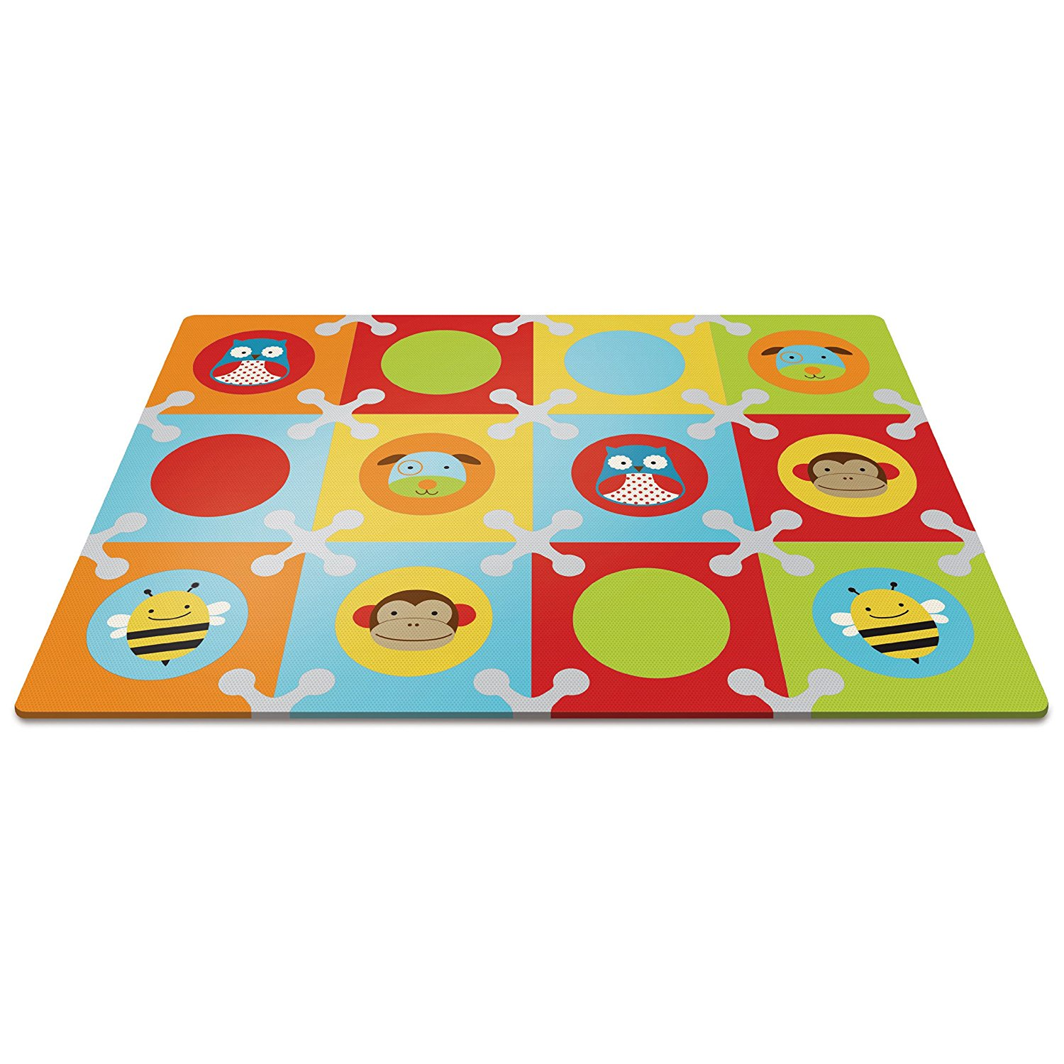 Skip Hop Baby Infant and Toddler Zoo Playmat with Interlo...