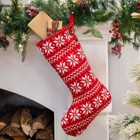 belham living red knit fair isle christmas stocking 185