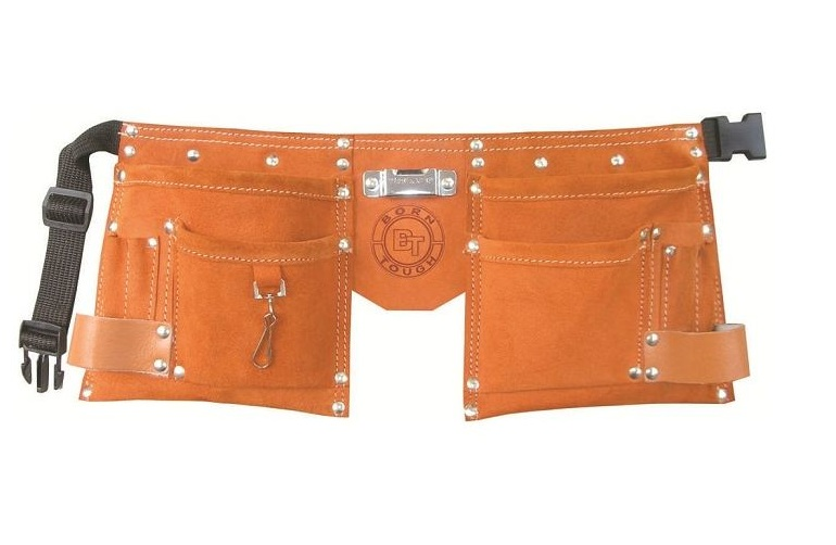 Born Tough KTB-01-Brown Suede Leather Kids Tool Belt   Tool Apron by Born Tough
