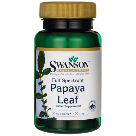 Swanson Full Spectrum Papaya Leaf Capsules, 400 mg, 60 Ct