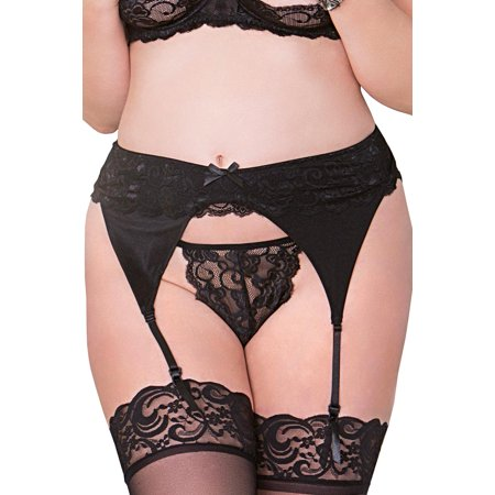 03b0e35ad iCollection - Sexy Plus Size Full Figure Lace Thong Panty - Walmart.com