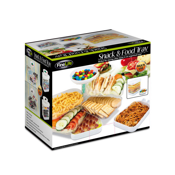 Stacking Snack And Food Tray (Pack Of 1)