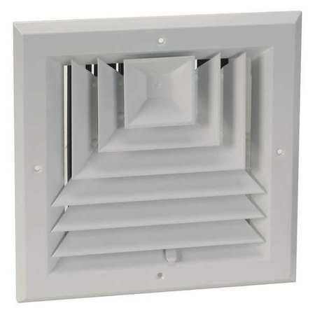 10' In Line Duct - 4MJJ4 3-Way Ceiling Diffuser, Duct Size 10