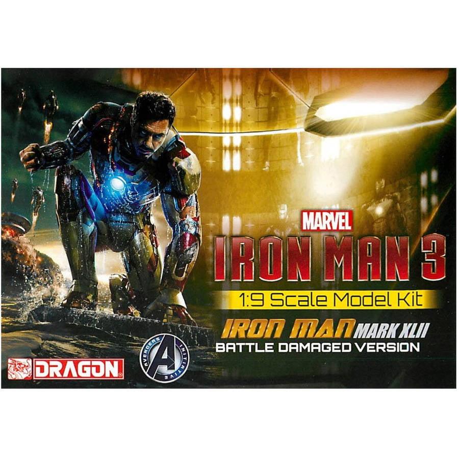 Mark XLII Dragon 1//9 Iron Man 3 Battle Damaged Version Model Kit 38328