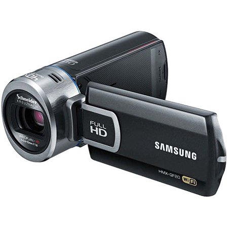"Samsung HMX-QF20BN Black Full HD Camcorder w/ 20x Optical Zoom, 2.7"" LCD Display, Built-in WiFi"