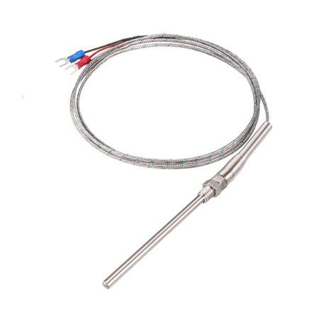 K Type Thermocouple Ressort Sonde capteur température 1.5M Cable 5x80mm Sonde - image 3 de 3