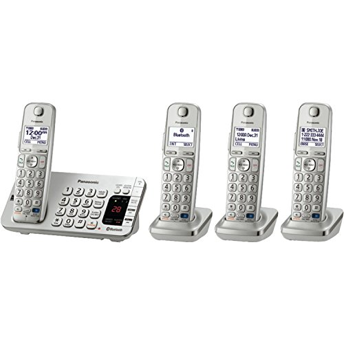 Panasonic LINK2CELL Bluetooth KX-TGE274S 4 Handsets With ...
