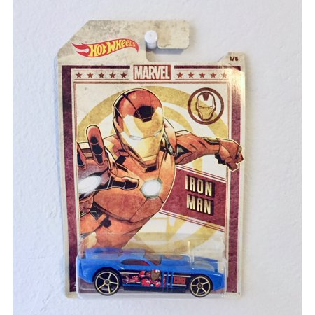 Hot Wheels Marvel Avengers Iron Man blue The Gov'ner 1:64 Collectible