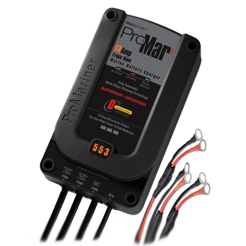 """ProMariner ProMar 1 5/5/3 13 Amp 3 Bank Charger"""