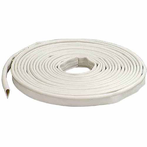 """M-D Products 68676 White Silicone Smoke Door Seal Gasketing, 1/2"""" x 20'"""