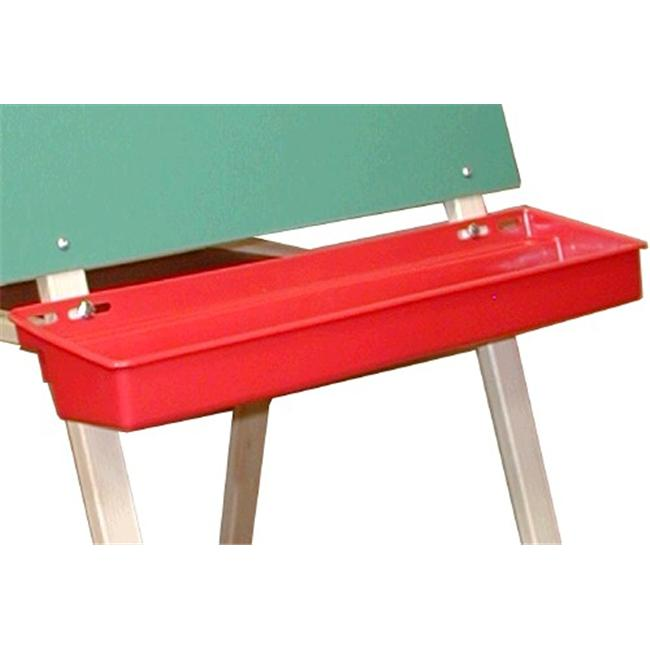 Beka 03102 Beka Red Plastic Paint Tray for Double-Sided Easel
