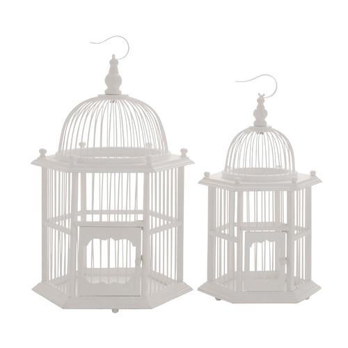 Woodland Imports 2 Piece The Wood Bird Cage Set