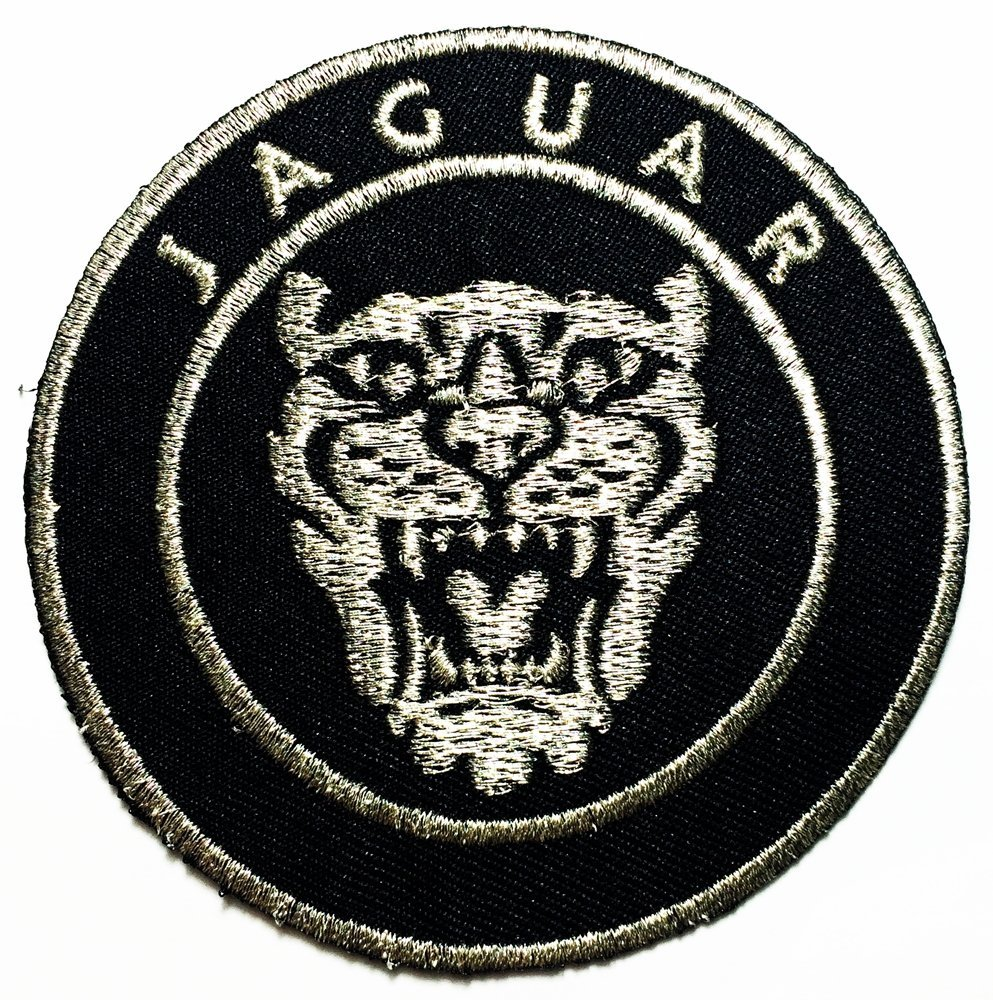 "Jaguar Racing Sport Automobile Car Motorsport Racing 3"" logo Sew Iron on Patch Badge Embroidery"