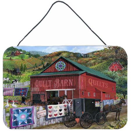 Caroline's Treasures The Quilt Barn by Tom Wood Painting Print Plaque ()