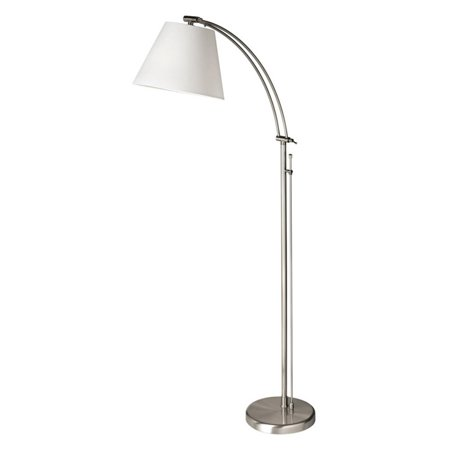 Dainolite Adjustable Floor Lamp - Satin Chrome