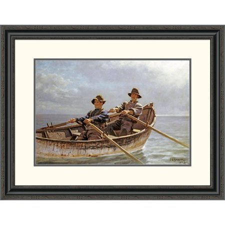 c3887a0203f Global Gallery  Heading Out  by John George Brown Framed Painting Print -  Walmart.com