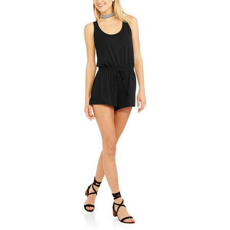 8df04b745fc9 Secret Treasures - Women s and Women s Plus Pajama Keyhole Tank and Shorts  Romper With Drawstring Tie - Walmart.com