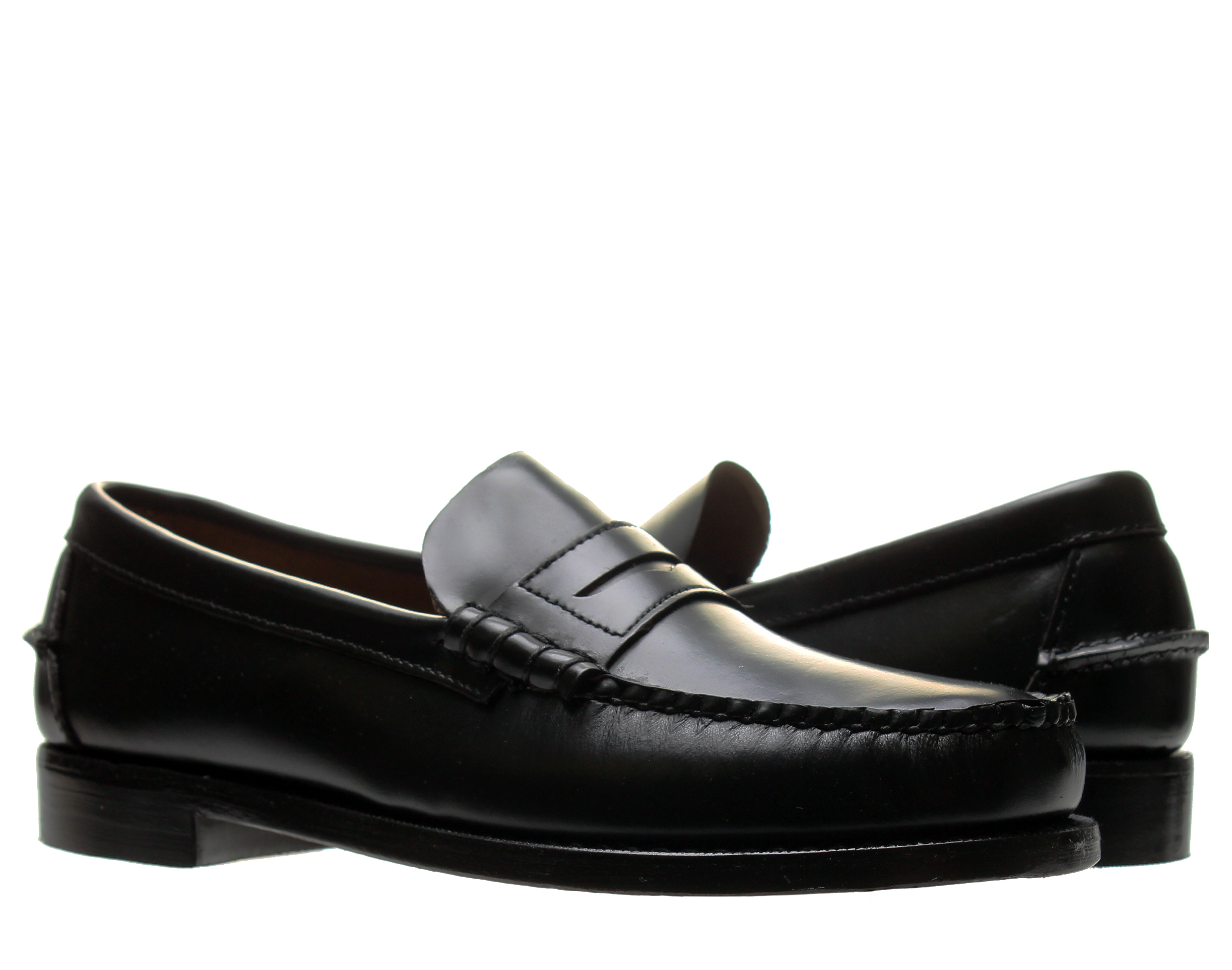 Sebago Classic Beef-Roll Penny Moc Black Men's Shoes B76671 by