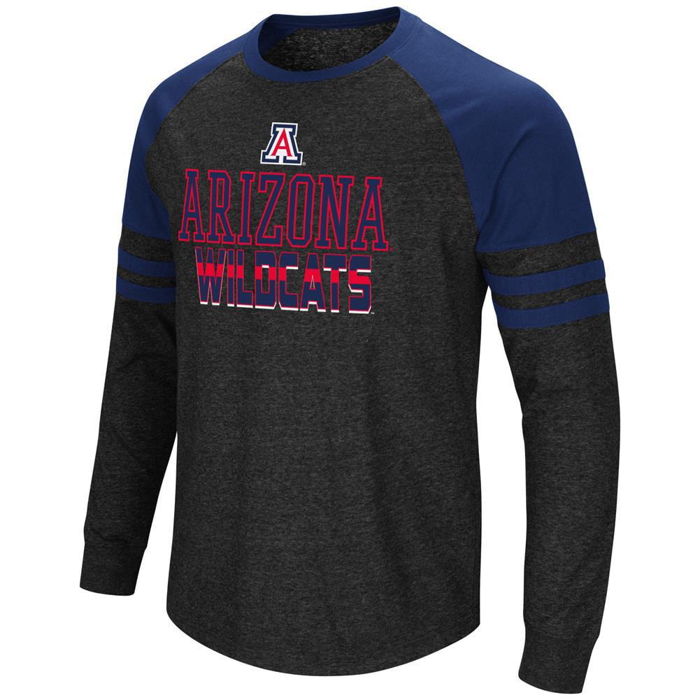Arizona Wildcats Long Sleeve Shirt Hybrid Raglan Tee