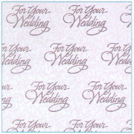 Partypro 180660 Wedding Wishes Gift Wrap Roll Anniversary Wedding Gift Wrap
