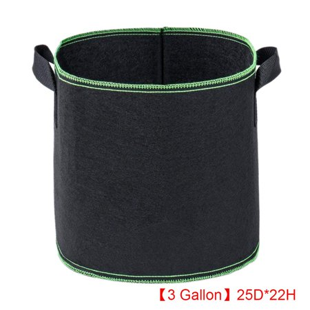 Heavy Duty Non Woven Cloth Planting Ponches 3 Gallon Growing Bags Barrel Shape Flower (5 Gallon Used Whiskey Barrel For Sale)