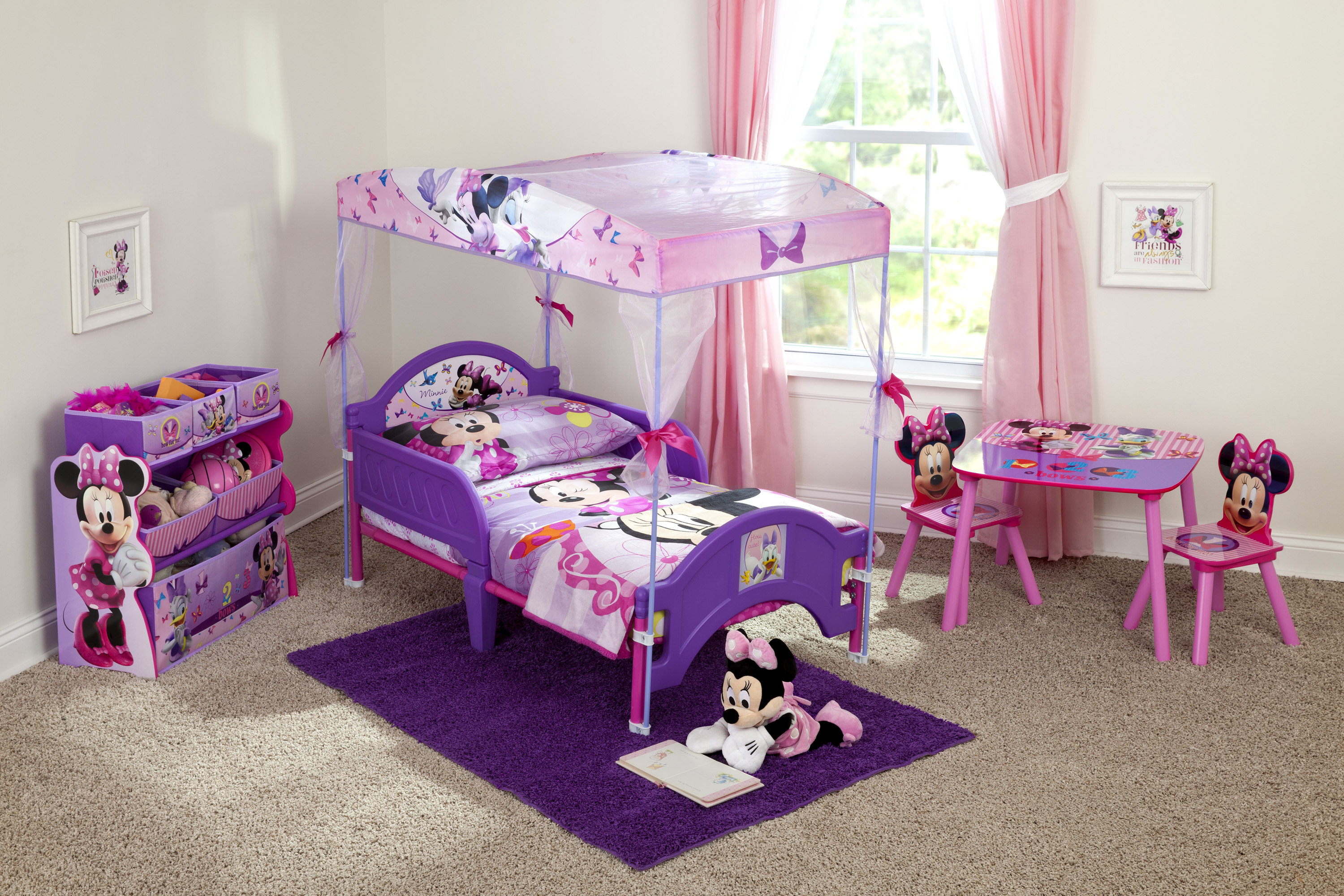 Minnie Mouse Bow-tique Toddler Bed with Canopy Image 2 of 4  sc 1 st  Walmart.com & Minnie Mouse Bow-tique Toddler Bed with Canopy - Walmart.com
