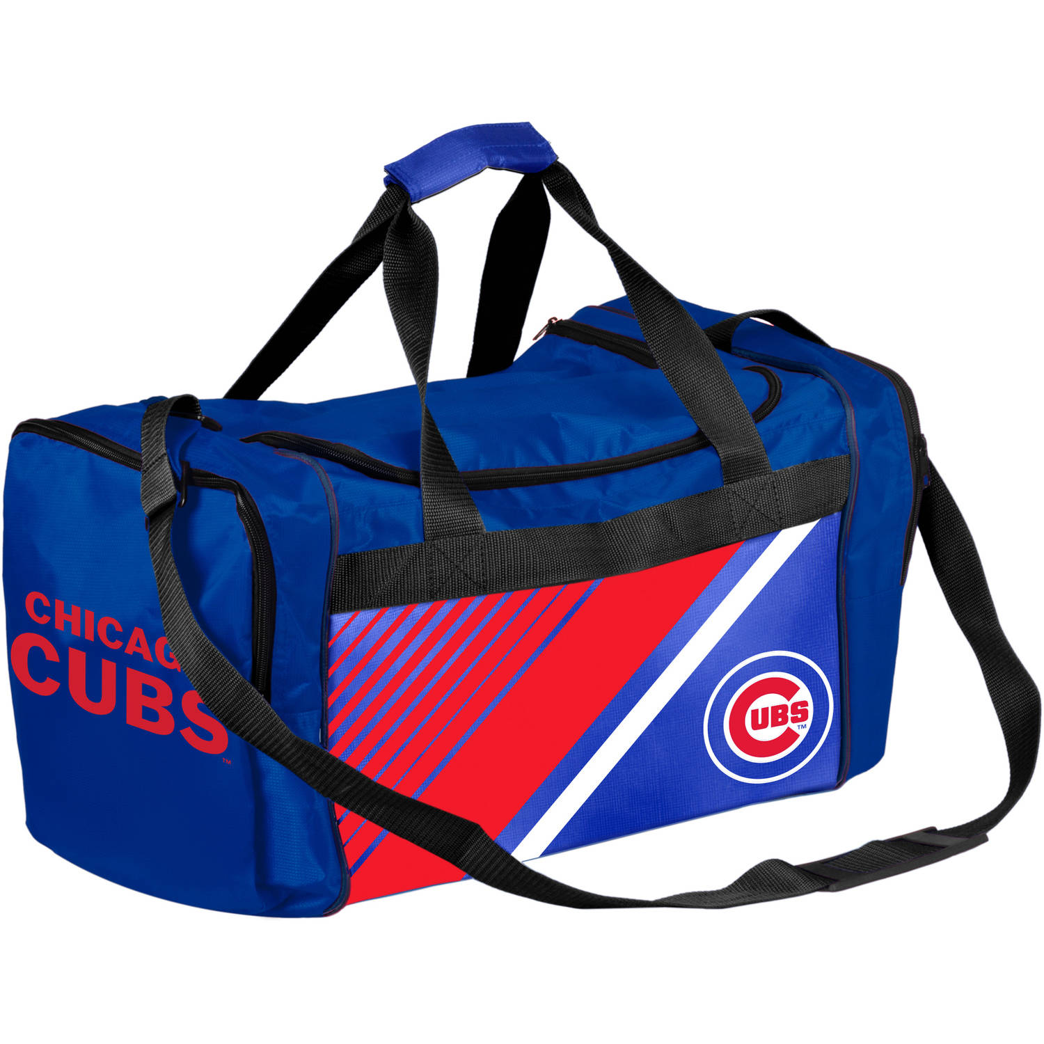 Forever Collectibles - MLB Chicago Cubs Border Stripe Duffle Bag