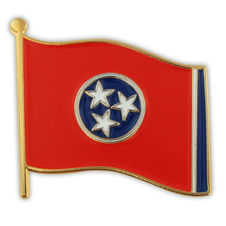 PinMart's Tennessee US State Flag TN Enamel Lapel Pin -