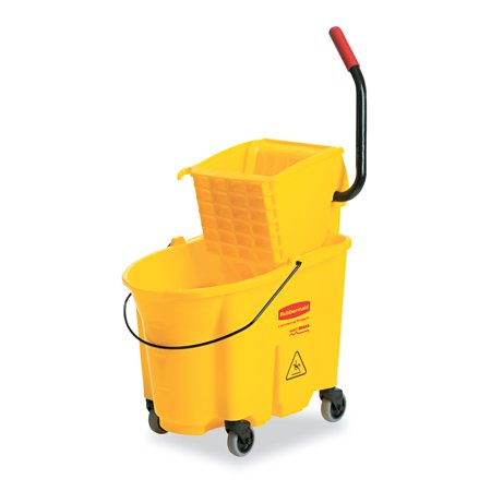 Wringer System - Rubbermaid Commercial Wavebrake 26 Quart Side Press Mop Bucket & Wringer Combo, Yellow