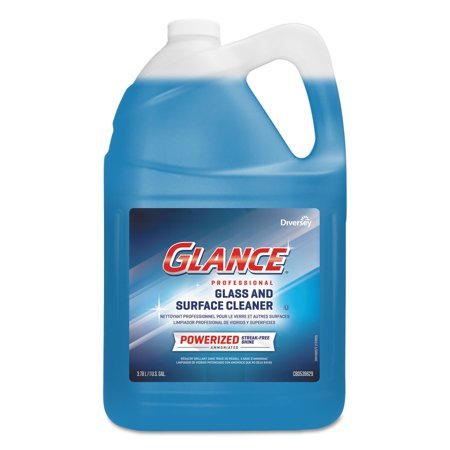 Glance Powerized Glass & Surface Cleaner, Liquid, 1 gal, (Johnsondiversey Powerized Formula Glass)