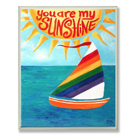 You Are My Sunshine Rainbow Sailboat Rectangle Wall Plaque for $<!---->