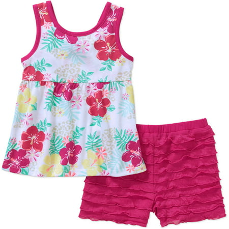 7657c27eb Healthtex - Baby Toddler Girl Fashion Tank and Shorts 2-Piece Outfit ...