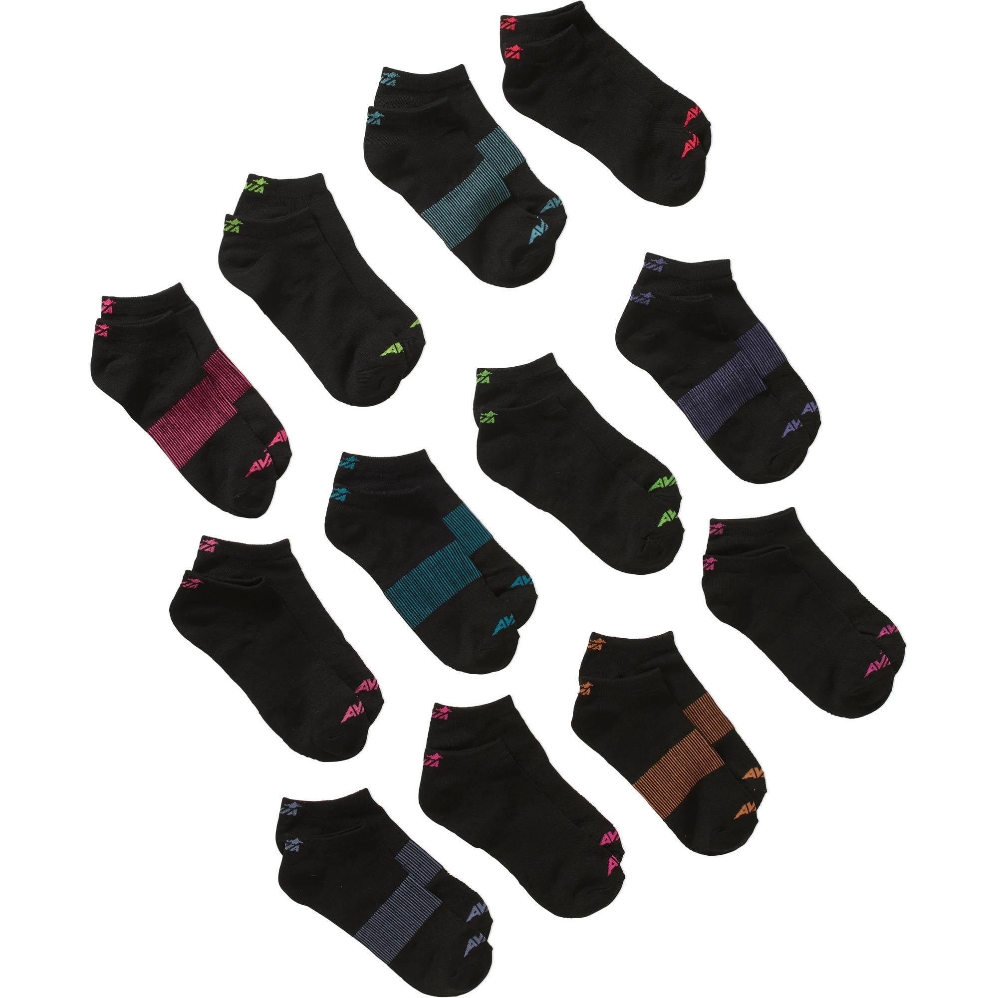 Avia Ladies Performance Liner No Show Socks, 12 Pack