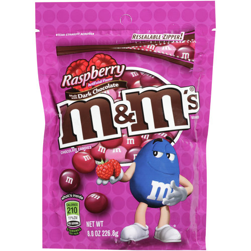 M&M's, Raspberry Chocolate Candies, 8 Oz