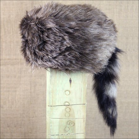 DANIEL BOON COON SKIN GIRL'S HAT WITH REAL COON TAIL LARGE - Coon Skin Hat