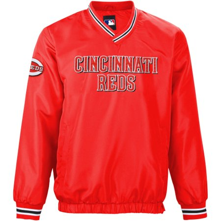 Cincinnati Reds Stop and Go Pullover Jacket - Red