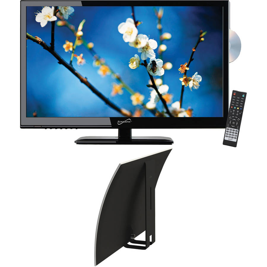 """Supersonic 23.6"""" Class - Full HD, LED TV/DVD Combination - 1080p, 60Hz (SC-2412) and Mohu Curve 30 Indoor HDTV Antenna"""